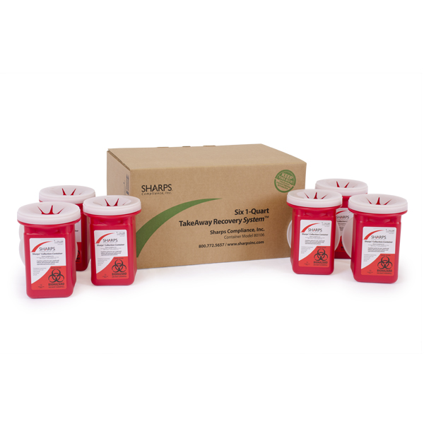 1-Quart TakeAway Recovery System (6 containers)