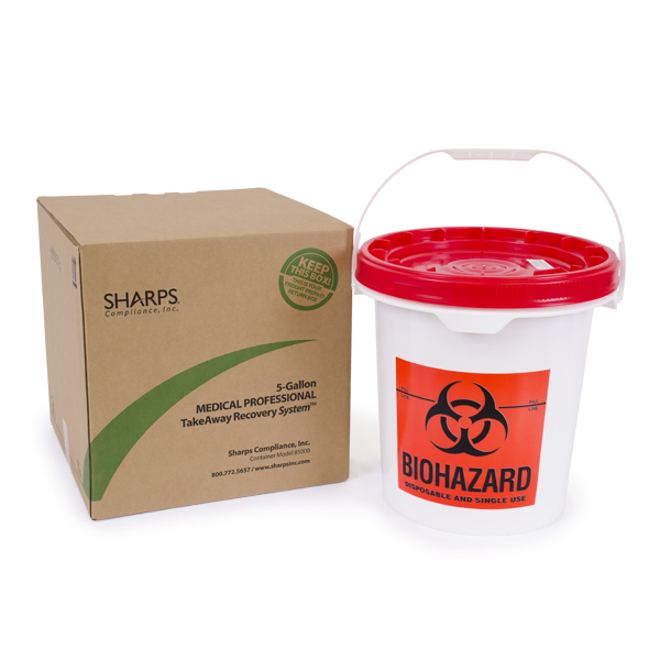 5-Gallon TakeAway Recovery System - Pail for non-sharps