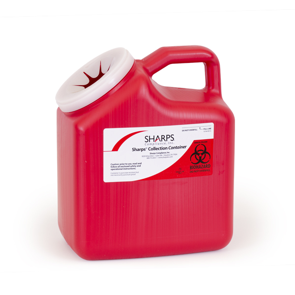 12/case 2-Gallon Sharps Recovery System