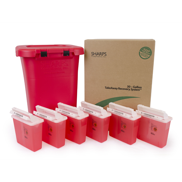 30-Gallon w/6 5QT SharpStar Containers (Red)