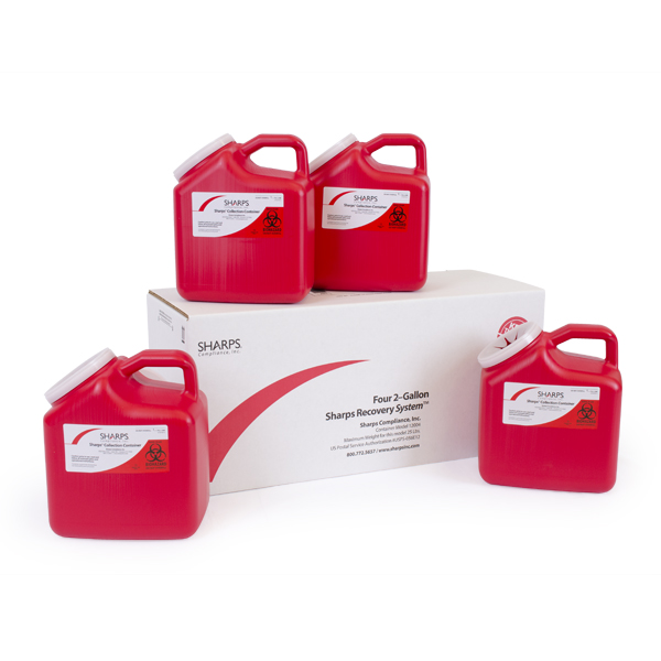 (Four) 2-Gallon Sharps Recovery System