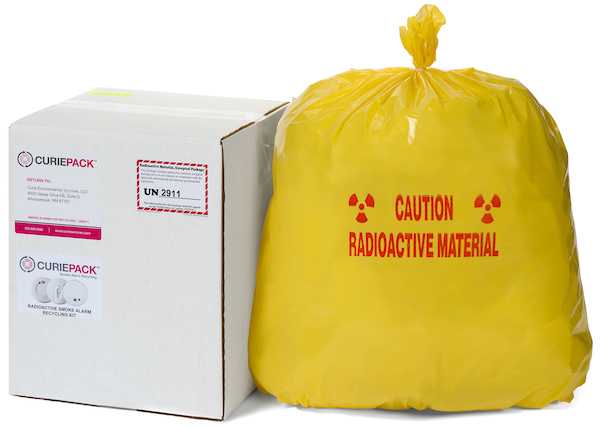 CuriePack Radioactive (Am-241) Smoke Alarm Recycling Kit - 11 gallon