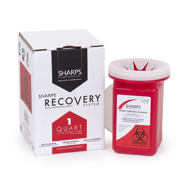 1-Quart Sharps Disposal by Mail