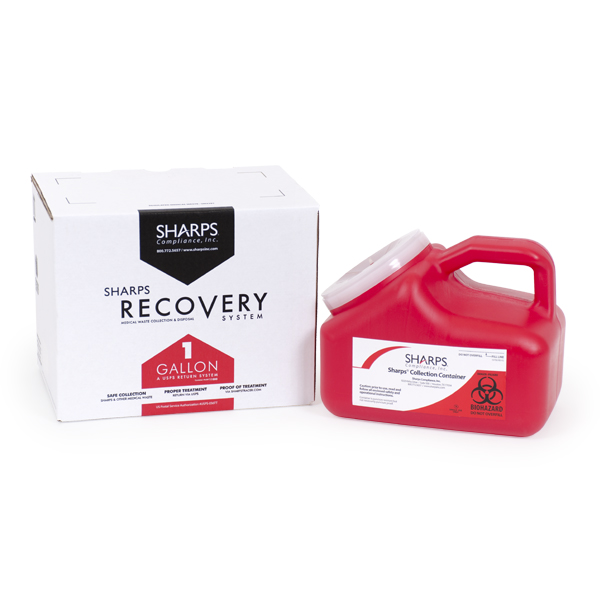 18/case 1-Gallon Sharps Recovery System