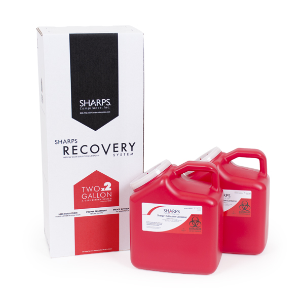 2-Gallon Sharps® Recovery System (2 containers/box) 6/cs